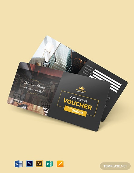 Conference Hotel Voucher Template