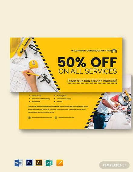 Construction Service Voucher Template