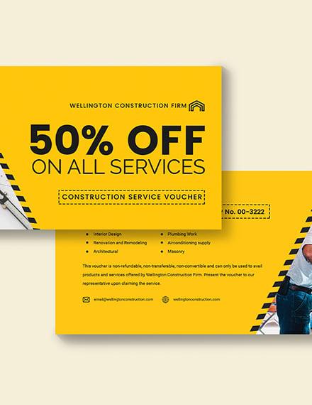 Sample Construction Service Voucher
