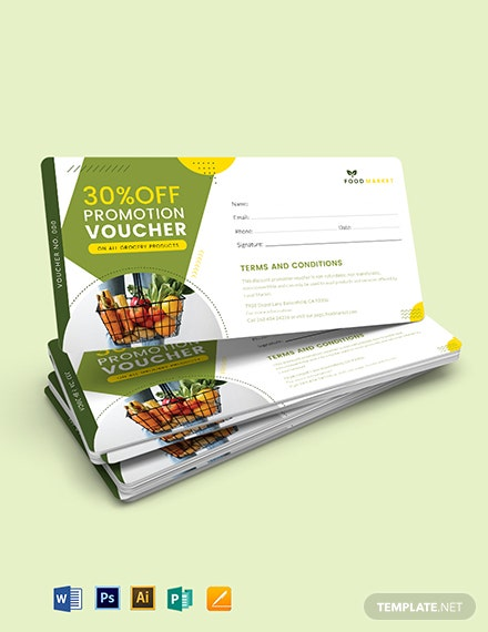 Discount Promotion Voucher Template
