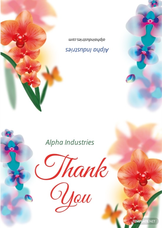 Bi-fold Thank You Card Template