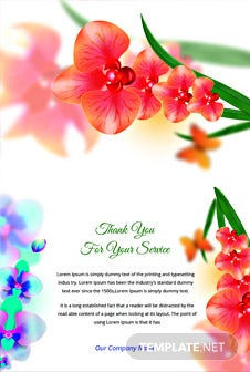 Free Bi-fold Thank You Card Template