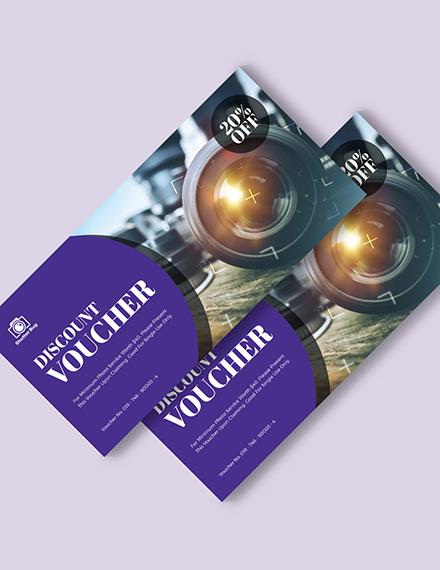 Editable Photography Voucher Download
