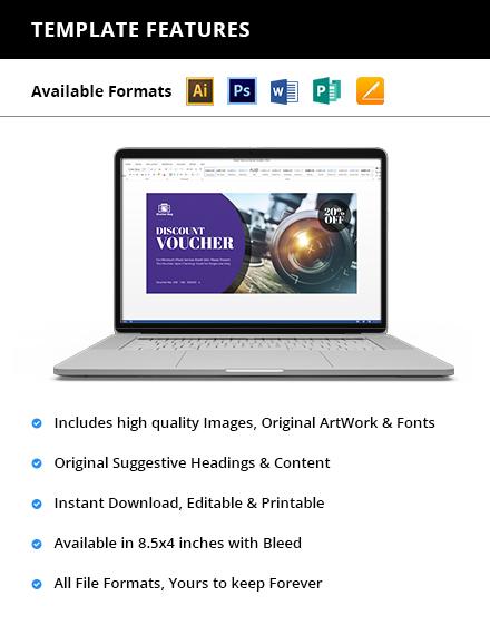 Editable Photography Voucher Printable