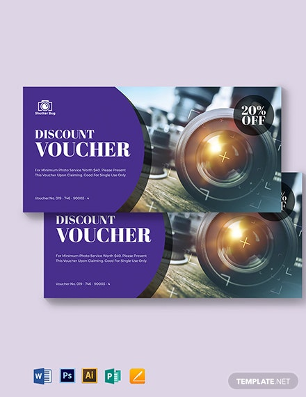 Editable Photography Voucher Template