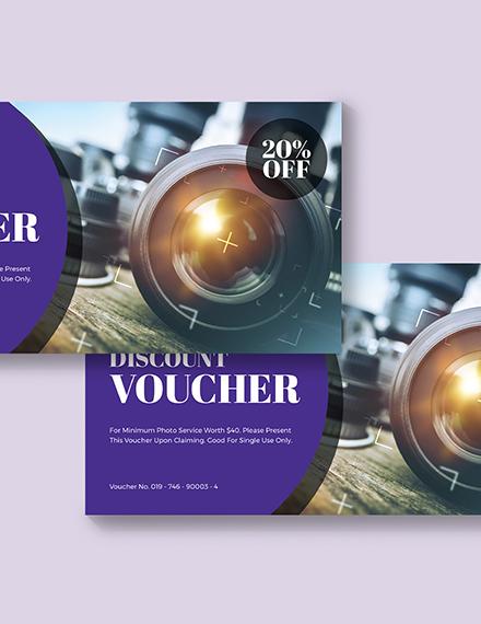 Sample Editable Photography Voucher