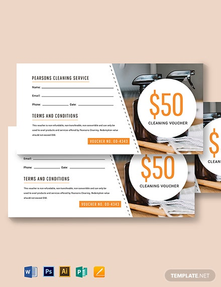Editable Service Voucher Template
