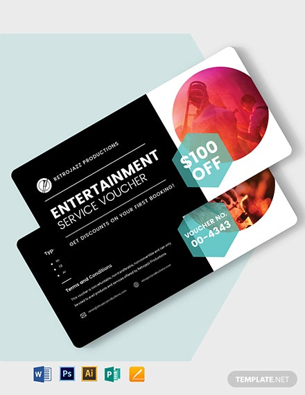 Entertainer Service Voucher Template
