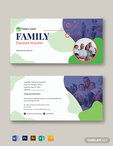 family discount voucher template