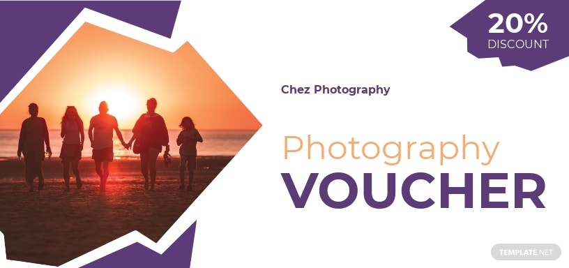 Family Photography Voucher Template