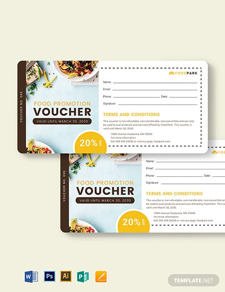 Food Promotion Voucher Template