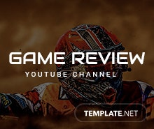 Free YouTube Channel for Game Review Template