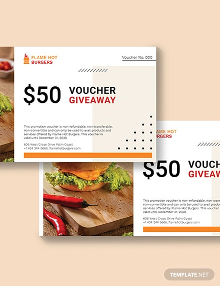Sample Giveaway Promotion Voucher