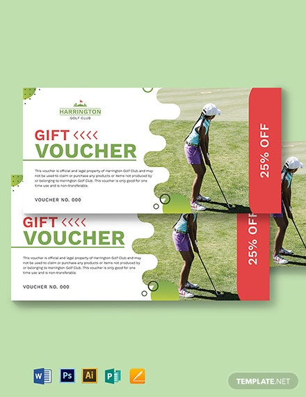 Golf Promotion Voucher Template