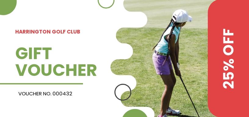 Golf Promotion Voucher Template