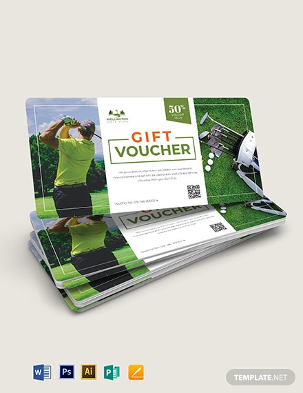 Golf Voucher Template