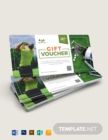 Golf Voucher Template