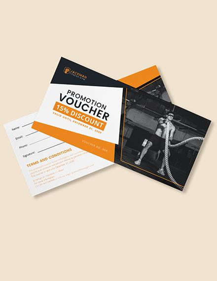 Gym Promotion Voucher Download