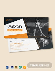 Gym Promotion Voucher Template