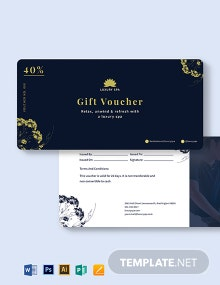 Luxury Spa Voucher Template