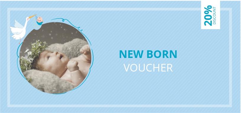 Newborn- Baby Photography Voucher Template