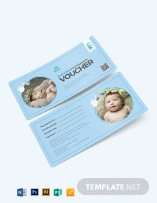 Newborn- Baby Photography Voucher Template