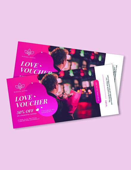 Personalized Romantic Love Voucher Download