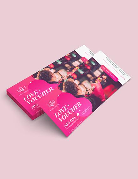 Sample Personalized Romantic Love Voucher