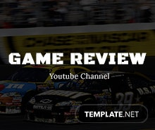Free Game Review YouTube Art Template