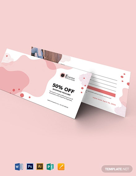 Printable Shopping Voucher Template