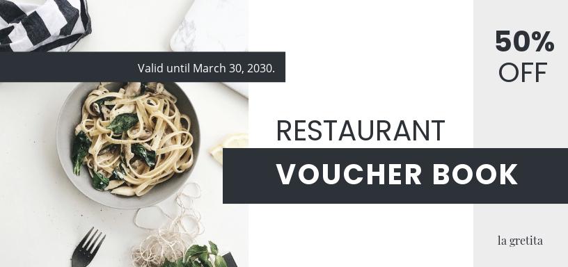 Restaurant Voucher Book Template