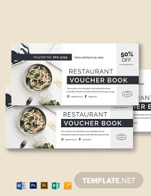 Restaurant Voucher Book Template