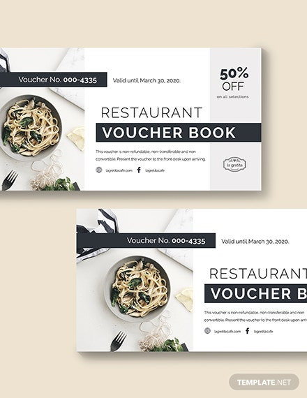 Sample Restaurant Voucher Book