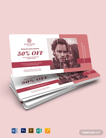 Romantic Love Voucher Book Template