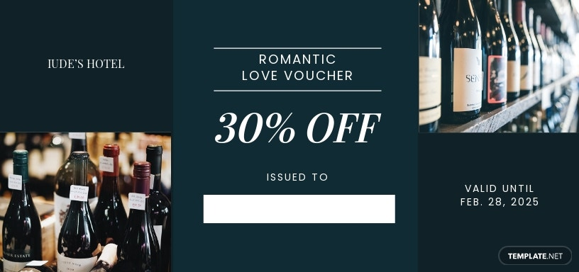 Romantic Love Voucher Template For Boyfriend
