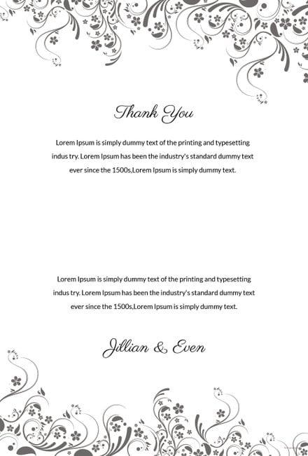 Free Wedding Thank You Card Template in Adobe Photoshop, Illustrator ...