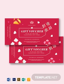 Romantic Voucher Template