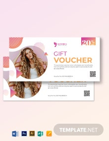 Salon Voucher Book Template