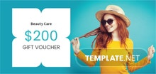 Free Sample Beauty Voucher Template