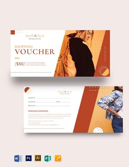 Shopping Promotion Voucher Template