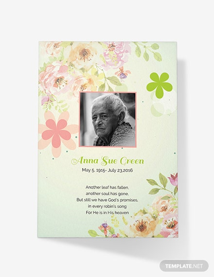 Free Funeral Thank You Card Template