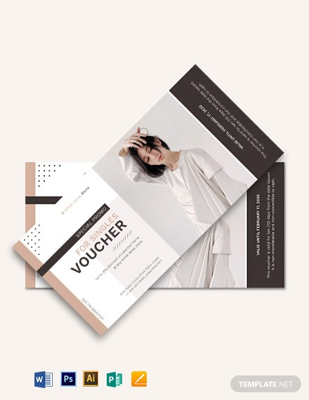 Single Day Promotion Voucher Template