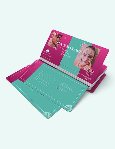 Sample Spa Massage Voucher
