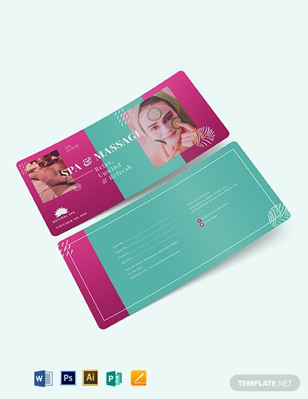 Spa Massage Voucher Template