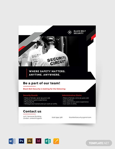 security guard agency flyer template 1