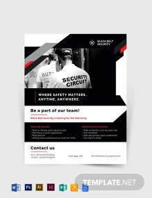 Security Guard Agency Flyer Template