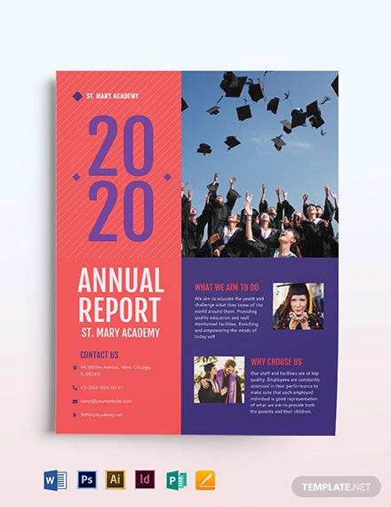 Annual Report Flyer Template