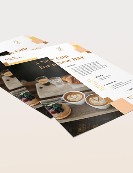 Sample Coffee Shop Flyer