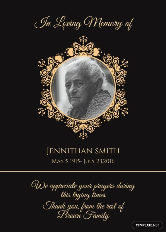 Black Funeral Thank You Card Template.jpe