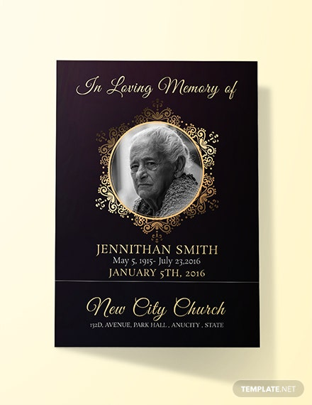 Free Black Funeral Thank You Card Template